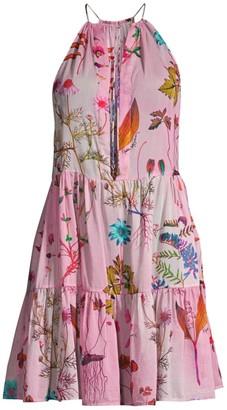 Stella McCartney Trippy Floral Halter Flare Dress