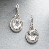Sterling Silver 1/10-Ct. T.w. White Topaz Oval Diamond Earrings