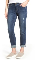 Jag Jeans Women's Carter Cuffed Stretch Girlfriend Jeans