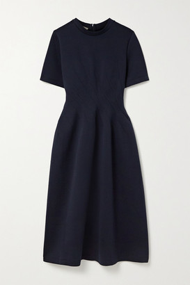 Marni Cotton-blend Jersey Dress - Midnight blue
