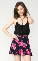 MUMU Skater Mini Skirt ~ Midnight Rose