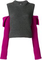 Calvin Klein open shoulder knit jumper