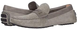 HUGO BOSS Driver Moccasin by Medium Grey) Men's Shoes