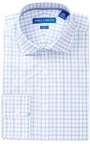 Vince Camuto Melange Check Trim Fit Dress Shirt