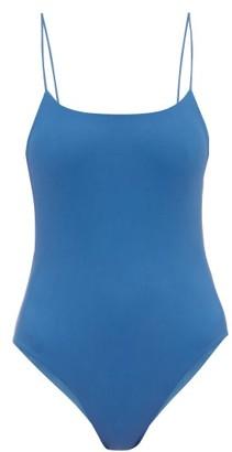 JADE SWIM Trophy Scoop-back Swimsuit - Blue
