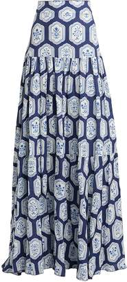 Agua Bendita Agua By Anis Printed Linen Maxi Skirt