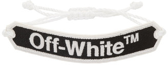 Off-White Black Logo Macrame Bracelet