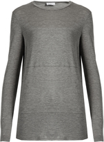 Raey Sheer-panel long-sleeved T-shirt