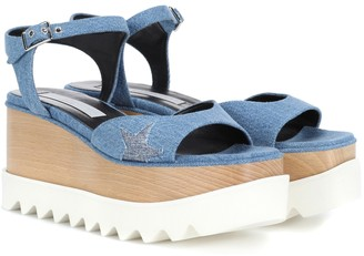 Stella McCartney Elyse denim platform sandals