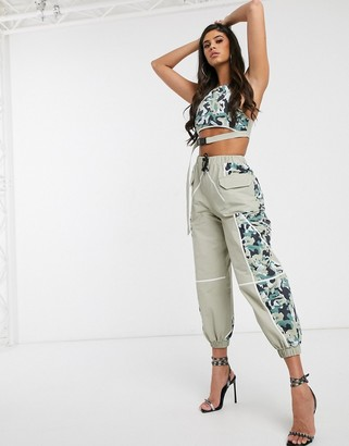 ASOS DESIGN camo pant in shell fabric co-ord