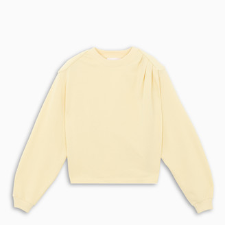 REMAIN Birger Christensen Yellow padded shoulders sweatshirt