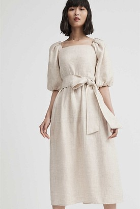 Witchery Linen Balloon Sleeve Dress