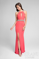Terani Prom - Beaded Halter Jersey Gown 1715P2992