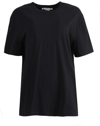 Acne Studios Over-sized Embroidered Logo T-shirt Black