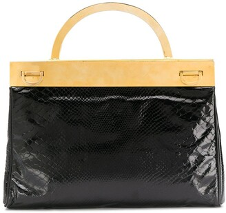 A.N.G.E.L.O. Vintage Cult 1960's Metallic Structure Varnished Tote