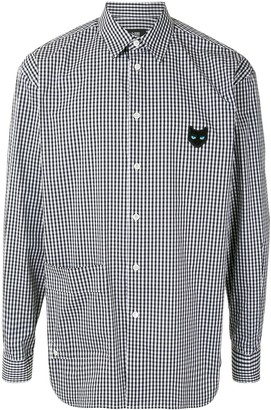 Zzero Checked Cat Patch Shirt