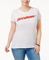 Hybrid Trendy Plus Size Cotton Baywatch Graphic T-Shirt