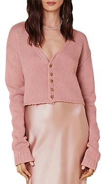 SABLYN Bianco Cropped Cashmere Cardigan