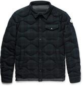 Moncler Nambour Black Watch Checked Wool Down Shirt Jacket