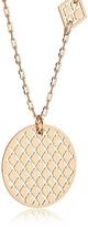 Rebecca Melrose Yellow Gold Over Bronze Necklace w/Geometric Charms