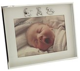 "Charming and Simplistic Silver and Ivory Newborn Baby 7"" x 5"" Photo Frame by Haysom Interiors"