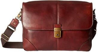 Bosca Dolce Messenger Bag (Dark Brown) Messenger Bags