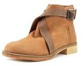 Free People Las Palmas Ankle Boot Women Round Toe Leather Tan Ankle Boot.