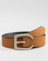 Asos Slim Tan Belt With Western Horseshoe Buckle