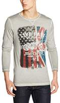 Tom Tailor Men's Printed Longsleeve Long Sleeve T-Shirt