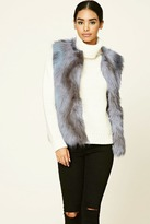 Forever 21 FOREVER 21+ Multicolored Faux Fur Vest
