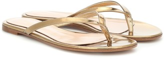 Gianvito Rossi Calypso leather thong sandals