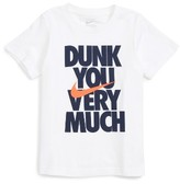 Nike Toddler Boy's Dunk You Very Much Graphic T-Shirt