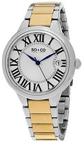 SO&CO New York Women's 5052B.2 Madison Quartz Date Stainless Steel Two Tone Link Bracelet Watch