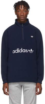 adidas Indigo Logo Zip-Up Sweater