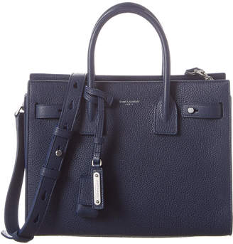 Saint Laurent Small Sac De Jour Souple Leather Satchel
