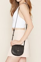 Forever 21 Faux Leather Saddle Crossbody