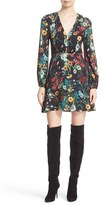 Alice + Olivia Women's Cary Print Blouson Fit & Flare Dress
