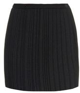 Marco De Vincenzo Pleated crepe mini skirt