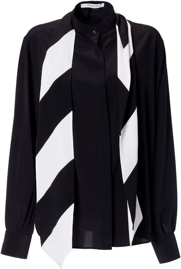 Givenchy Tie Neck Shirt