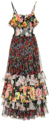 Dolce & Gabbana Floral-printed silk chiffon dress