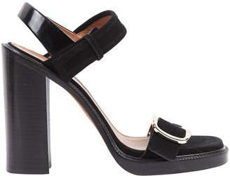 Givenchy Black Suede Sandals