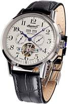 Ingersoll IN4411WH Men's Black Leather Strap Band Dial Watch