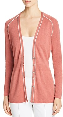 Nic+Zoe Tipped Button-Front Cardigan