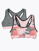 Marks and Spencer 2 Pack Camouflage Print Crop Tops (6-16 Years)