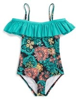 Splendid Girl's Farmhouse Floral One-Piece Swimsuit