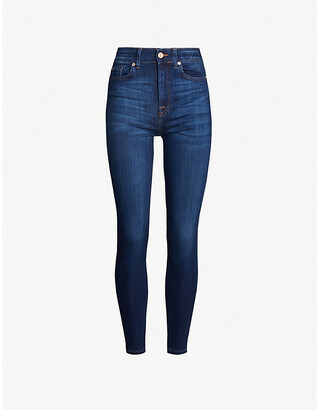 7 For All Mankind Aubrey skinny high-rise jeans