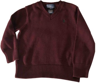Polo Ralph Lauren \N Burgundy Cotton Knitwear