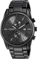Akribos XXIV Men's AK812BK Analog Display Swiss Quartz Watch