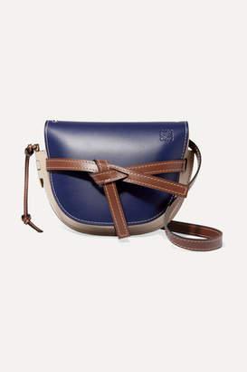 Loewe Gate Small Color-block Leather Shoulder Bag - Blue