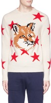 MAISON KITSUNÉ Fox star intarsia lambswool sweater